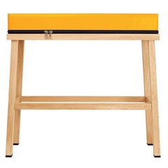 Visser and Meijwaard Truecolors High Bench in Orange PVC Cloth with Zipper