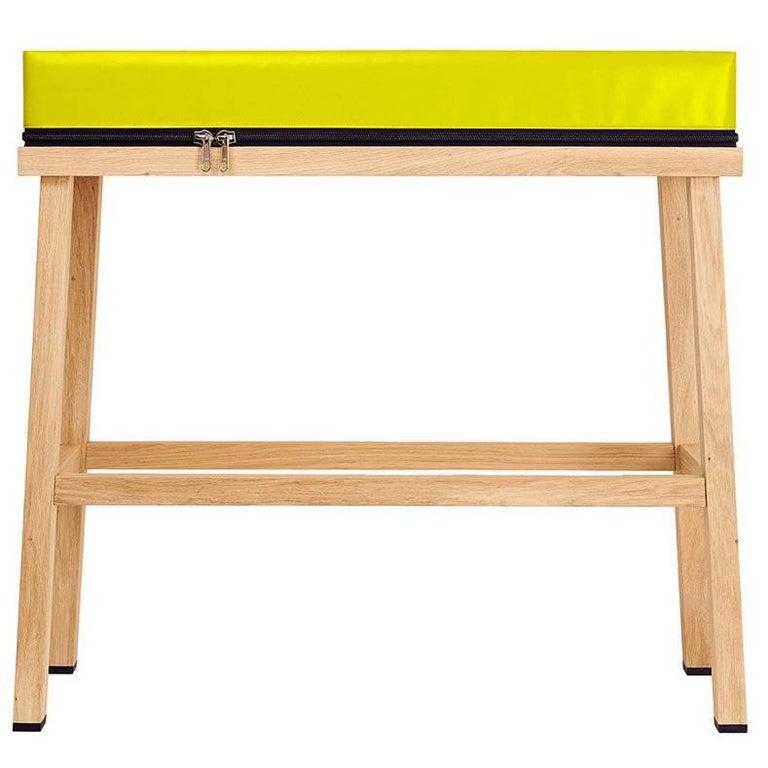 Visser and Meijwaard Truecolors High Bench in Yellow PVC Cloth with Zipper
