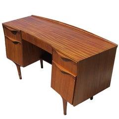 Midcentury Striped Mahogany Desk