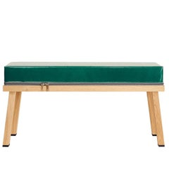 Visser and Meijwaard Truecolors Bench in Green PVC Cloth with Zipper
