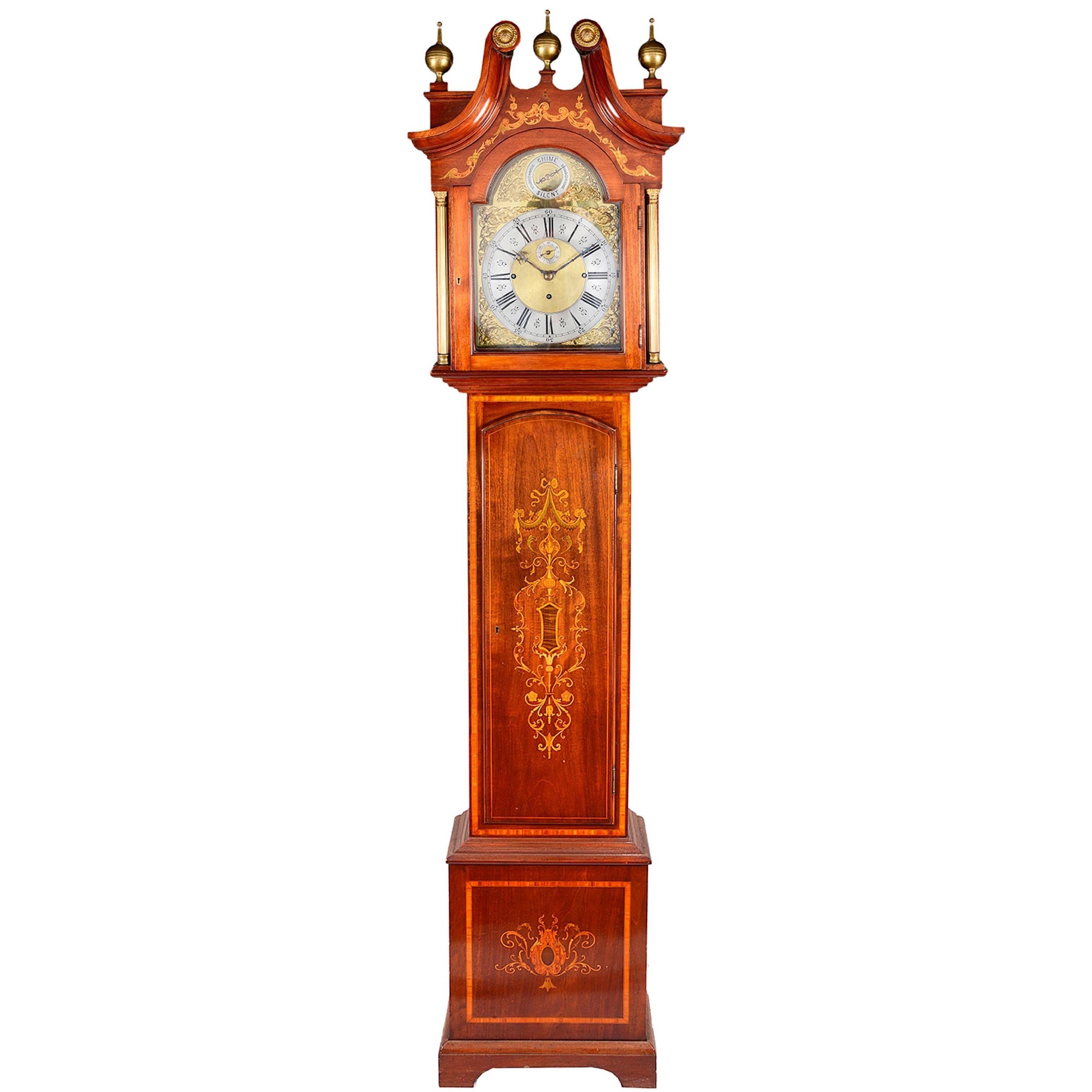 Late 19th Century Musical Longcase Clock
