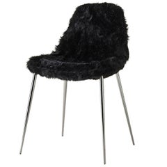 Mammamia Black Fur Chair