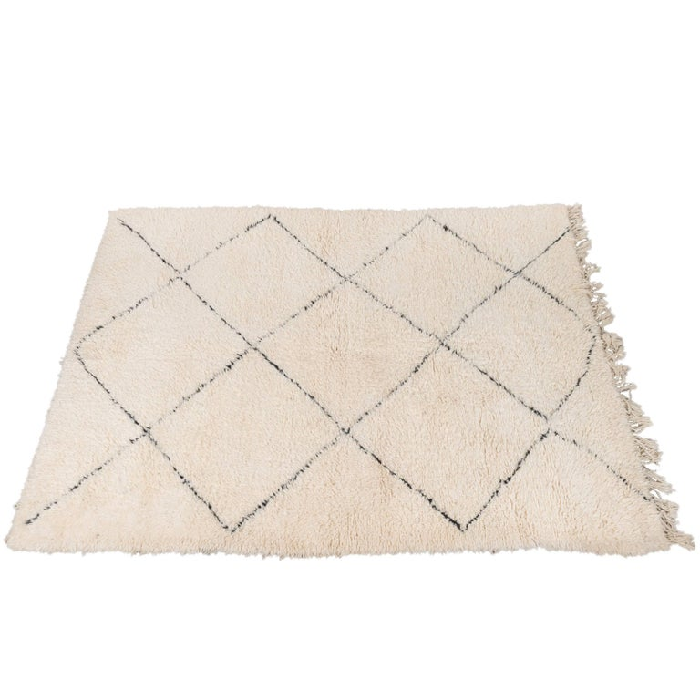 Vintage Beni Ouarain Rug Hand Picked from Morocco