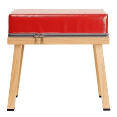 Visser and Meijwaard Truecolors Stool in Red PVC Cloth with Zipper