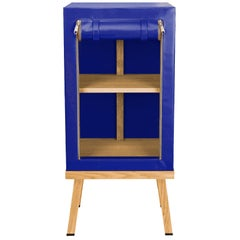 Visser and Meijwaard Truecolors Side Cabinet in Blue PVC Cloth with Zipper
