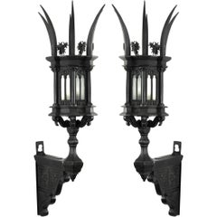 Pair of 19th Century Italian Gothic Wall Sconces
