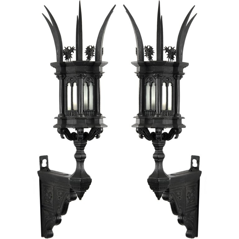 gothic wall sconce wrought iron 1stdibs pair of 19th century italian gothic wall sconces for sale at 1stdibs