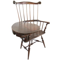 18th Century New York Comb Back Writing Arm Windsor Chair
