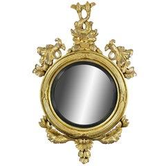 Regency Giltwood Convex Mirror
