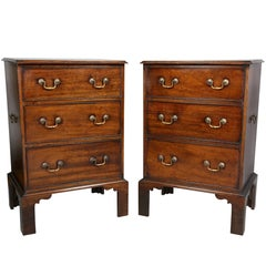 Pair Of George III Style Mahogany Dwarf Chests Of Drawers