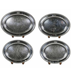 Set of Four Regency Silver Plated Platters by Matthew Boulton