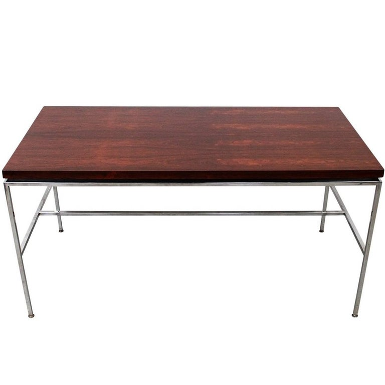 Minimalist Exotic Wood Desk by Drexel