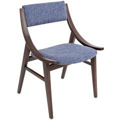 "Blue ""Jupmer"" chair, Silesian Furniture Factory, Poland, 1960s"