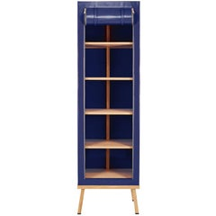Visser and Meijwaard Truecolors Cabinet in Dark Blue PVC Cloth with Zipper Openi