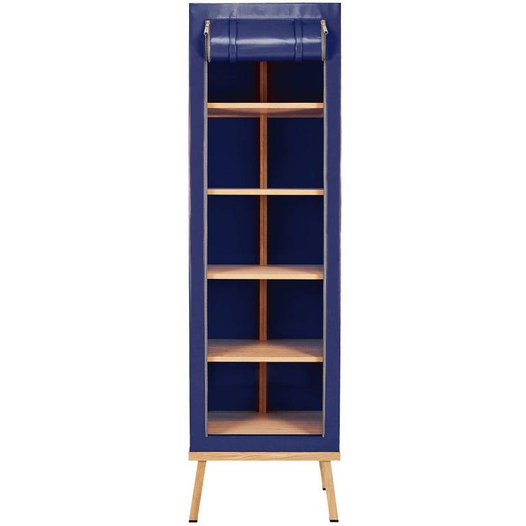 Visser and Meijwaard Truecolors Cabinet in Dark Blue PVC Cloth with Zipper Openi