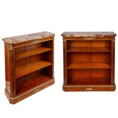 Pair of 19th Century Louis XV Style Open Bookcases