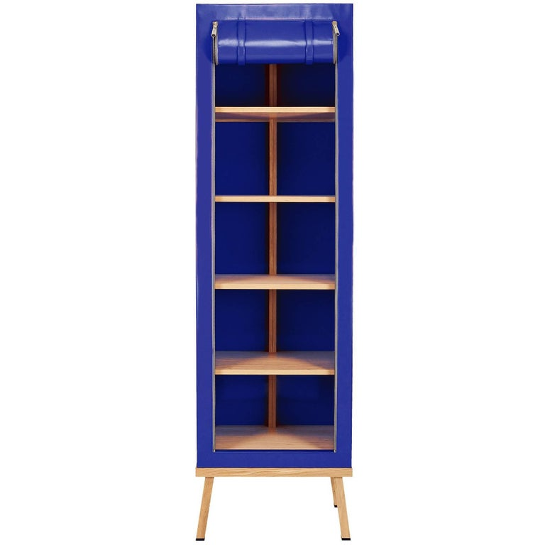 Visser and Meijwaard Truecolors Cabinet in Blue PVC Cloth with Zipper Opening
