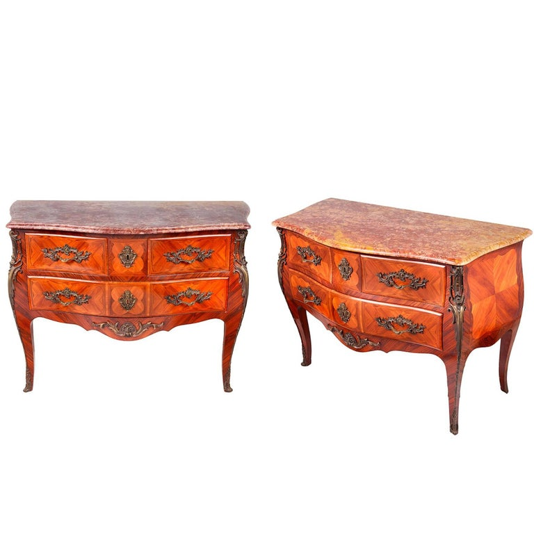 Pair of Louis XVI Style Commodes, Late 19th Century