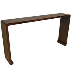 20th Century Chinese Waterfall Wood Console Table