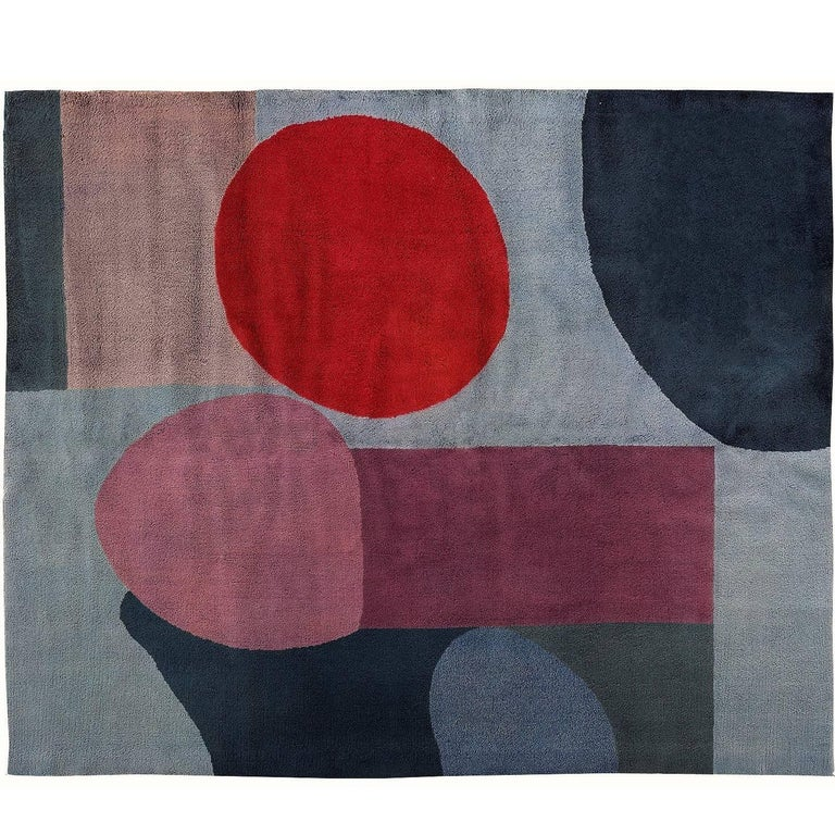 "Paul Klee ""Blue-Red"" rug"