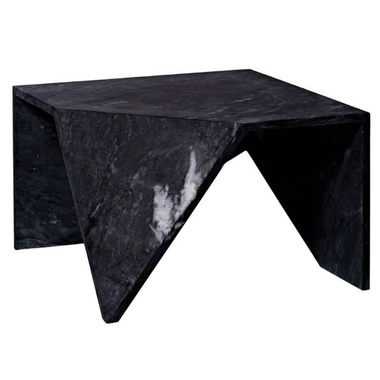 Lupi Square Coffee Table, Contemporary Marble Lounge Table