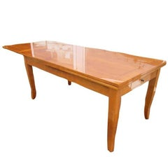 Biedermeier Style Dining Table Made of Cherrywood