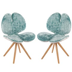 Set of Two Pansè Chairs in Seawater