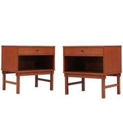 Folke Ohlsson Teak Nightstands for DUX