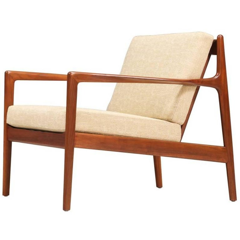 Folke Ohlsson Model 74-C Walnut Lounge Chair for DUX