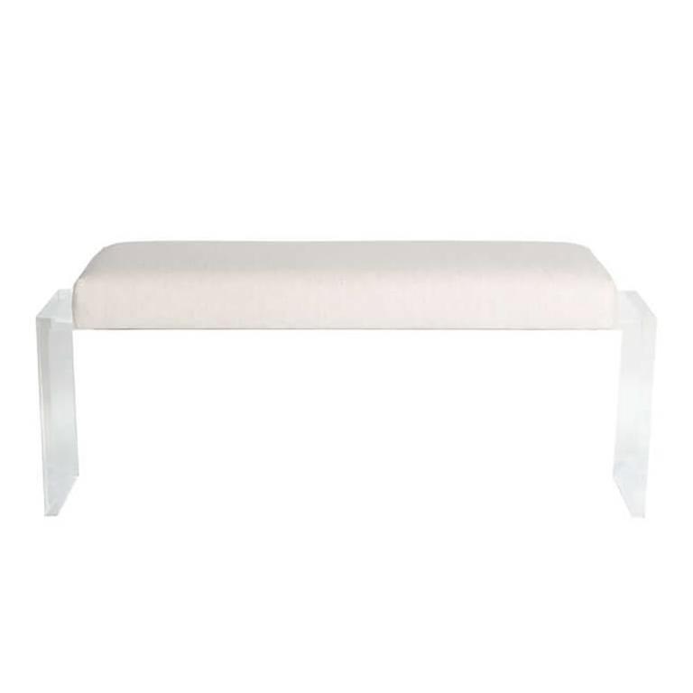 Moller Lucite Upholstered Bench