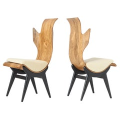 "Pair of ""Flame"" Chairs by Dante LaTorre"