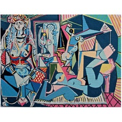 """Pablo Picasso 'after' """"Les Femmes D'alger, Version """"O"""" Needle Point Tapestry"""