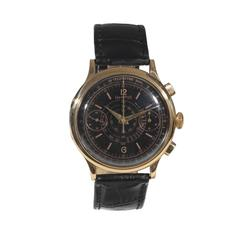 Eberhard & Co. Yellow Gold Chronograph Wristwatch