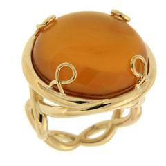 Valentin Magro Helix Round Citrine Gold Ring