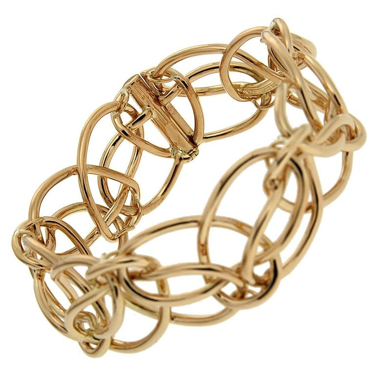 Valentin Magro Looping Ring Gold Bracelet