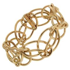 Looping Ring Gold Bracelet