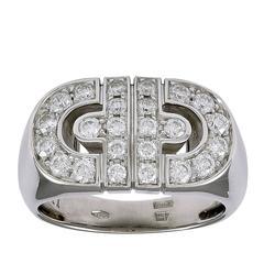 Bulgari Parentesi Round Brilliant Diamond Gold Ring