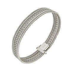 Antique 18 Kt White Gold Bracelet Made in Italy