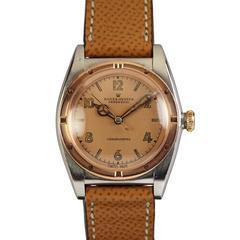 Rolex Rose Gold Stainless Steel Chronometre Wristwatch Ref 3372