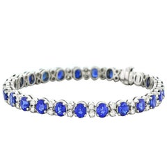 Spark Sapphire and Diamond-Set White Gold Bracelet