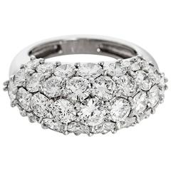Olga Tritt Diamond Platinum Dome Ring