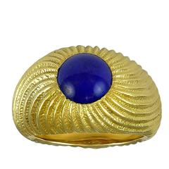 Tiffany & Co. Schlumberger Cabochon Lapis Lazuli Gold Ring