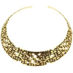 Bitcoin Blockchain Torus 18K Gold Collar