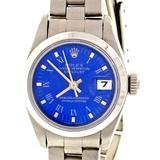 Rolex Lady's Stainless Steel Datejust Custom Colored Dial Wristwatch Ref 69160