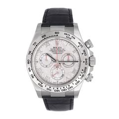 Rolex White Gold Cosmograph Daytona Meteorite Dial Automatic Wristwatch