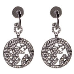 Jade Jagger Opium Bamboo Small Drop Diamond Earrings