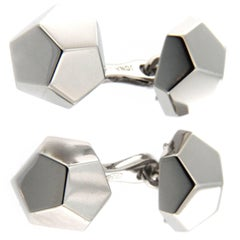 Jona Geometric Sterling Silver Cufflinks
