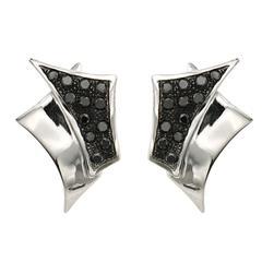 Black Diamond White Gold Earrings Modern