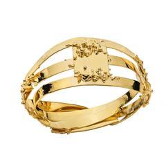 Pedro Cabrita Reis B9 Gold Bangle Bracelet