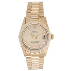 Rolex Yellow Gold Midsize Datejust Automatic Wristwatch ref 68278